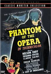 The phantom of the opera The movie in 1943 produced by Global film. Starred by Claude Rains。