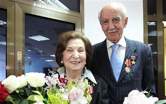Gevorg Vardanyan and his wife