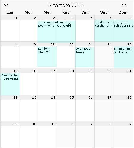 2014年12月音乐会计划