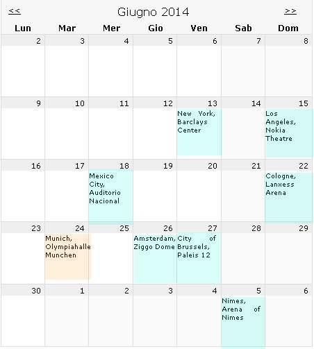 2014年6月音乐会计划