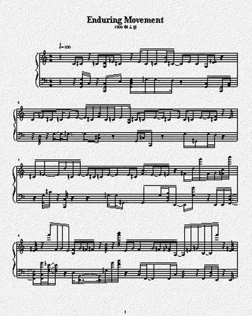 Enduring movement(不朽的乐章)曲谱琴谱