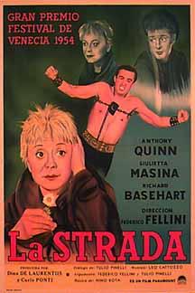 """费德里柯・费里尼著名电影""""大路/La Strada""""(1954)"""