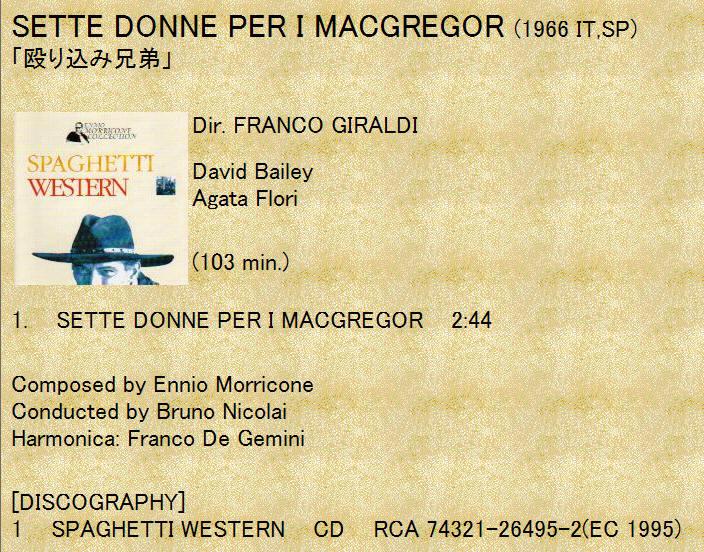 Sette donne per i MacGregor / 7 Women for the MacGregors / (直译 七女麦格雷戈斯)