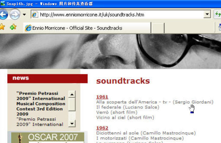 The Morricone official web site shows 1961