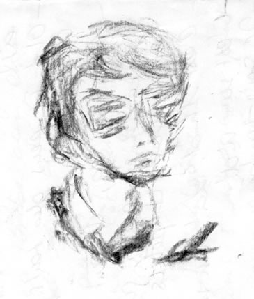 英国朋友阿尔芒的肖像画 Armand's portraits