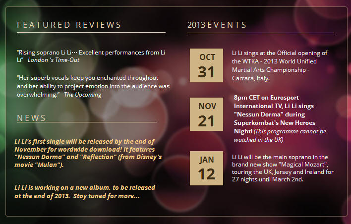 Lili's personal Homepage