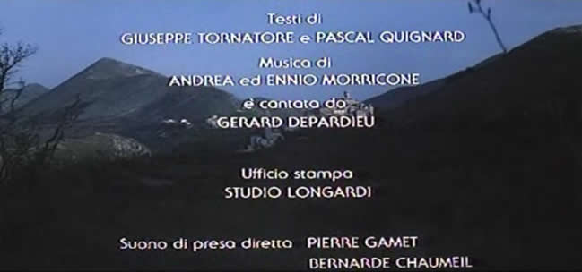 It is shown that the end of film was commond composed by Andre Morricone and Ennio Morricone (01:44:46)