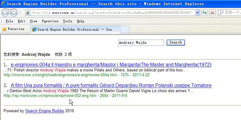 网站的搜索引擎