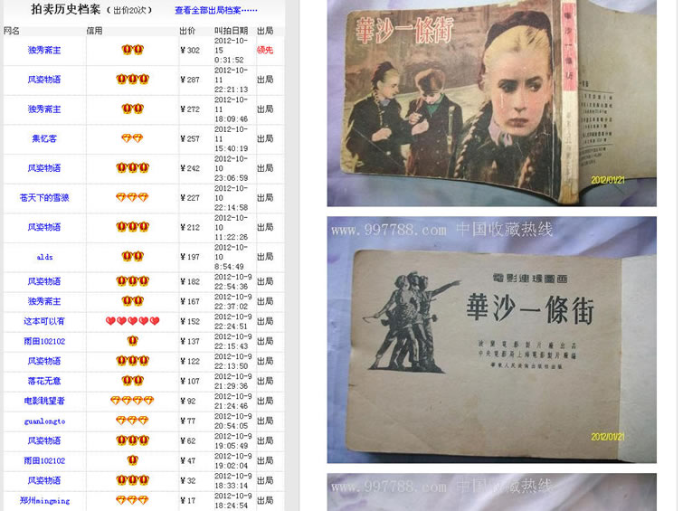 "An old picture-story book ""Ulica Graniczna/Border Street"" has been sold (Auction) up to 302 CNY (About 48 USD)"