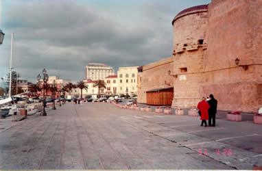 顺着码头向前走去,一座古老的城堡赫然在目.它似乎仍在提醒人们不要忘记这里曾经残酷争战的历史