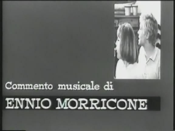 It is shown that the film was composed by Ennio Morricone (00:01:15)
