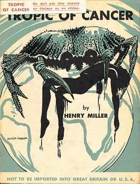亨利・米勒(北回归线)1934年巴黎第一版的封面