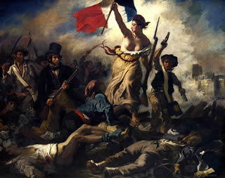 Eugène Delacroix's Liberty Leading the People for July Revolution of 1830,