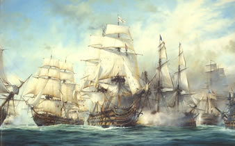 1805年10月的 特拉法加海战