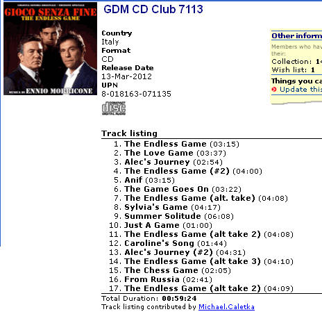 GDM CD Club 7113